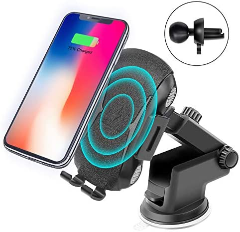 Wireless Car Charger Mount Kit Automatic Clamping Qi Fast Wireless Car Charger Smart Sensor product image