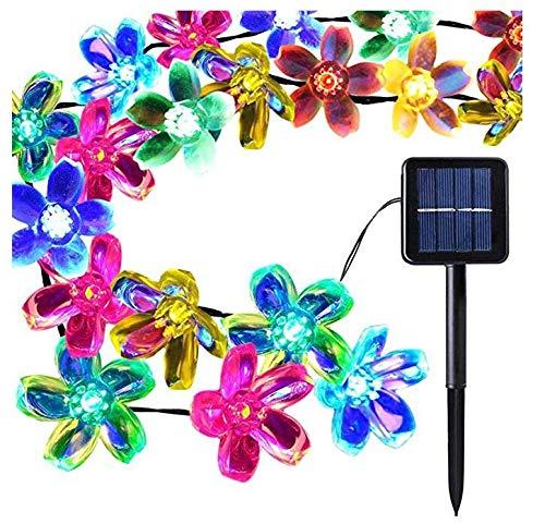 Kalokelvin Luces Solar 7 Metros 50 LED Luces de Flor, 8 Modos, Impermeables Exteriores e Interiores Luces de Decorativas Perfecto para Jardín, Patio, Arboles, Boda (Multicolor)