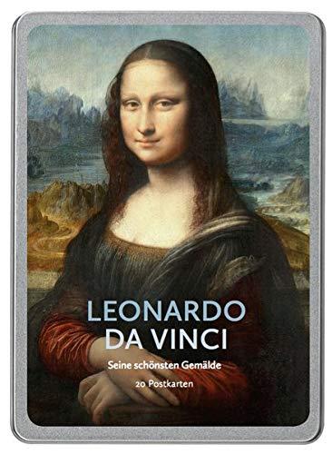 Leonardo da Vinci: Seine schönsten Gemälde, 20 Postkarten gedruckt auf Apfelpapier in einer hochwertigen Dose.