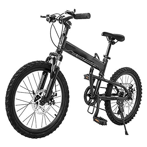 BMDHA MTB Plegable,Bicicleta De montaha Marco De AleacióN De Aluminio Freno De Disco MecáNico,Bicicleta 24 Pulgadas 27 Velocidades Bicicleta Montana Adulto