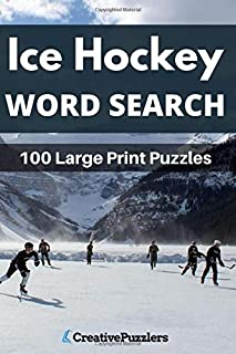 Ice Hockey Word Search: Large Print Puzzle Book Volume 1