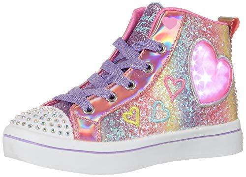 Skechers Kids Girls Lighted Twinkle Toes Sneaker, Multi, 13 Little Kid