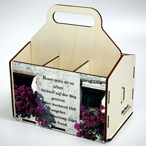 Bierträger aus Holz - SixPack - Geburtstag - Geschenke-Männer-Frauen - Grillen (Geburtstag, Mauer mit Spruch)
