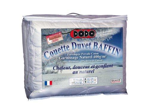 DODO COUETTE BAFFIN 15% DUVET DE CANARD - CHAUDE - 240 x 260 cm