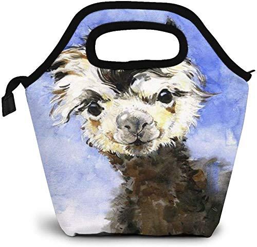 Bolsa de almuerzo con aislamiento de alpaca, personalizada, para pícnic, enfriador, portátil, bolsa de almuerzo para mujeres, niñas, hombres y niños