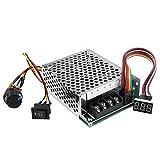 Controlador de motor reversible - Interruptor DC10V-55V DC cepillado velocidad del motor controlador CW CCW reversible con digitos