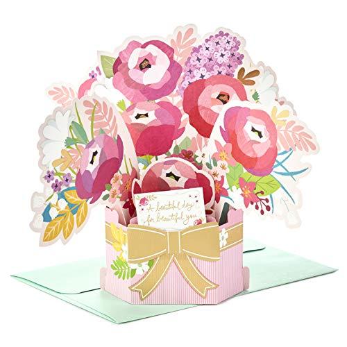 Paper Wonder Pop Up Verjaardagskaart met keurmerk 'Mooi Boeket' - Medium
