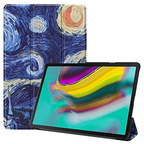 HiYiXi Custodia per Samsung Galaxy Tab S5e Ultra Sottile Case in pelle Smart Cover con Auto Sonno/Risvegliare Funzione Custodia per 10.5 Pollici Samsung Galaxy Tab S5e 2019 – Notte stellata