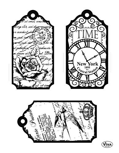 Viva Decor®️ Clear-Stamps (Zeitstempel) Silikon Stempel - Prägung Stempel - DIY Dekoration stanzen - Stempel Silikon - DIY Stamp - Stempel Prägung - Made in Germany
