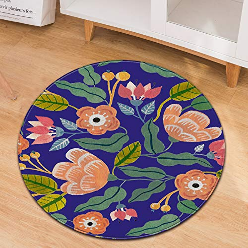 Non-Slip Wear-Resistant Round Carpet Simple Style Home Chair Cushion Office Chair Blanket Polyester Material Can Be Washed
