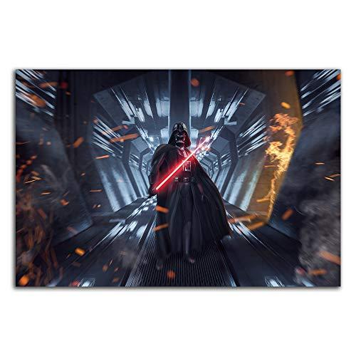 Trelemek Póster impreso de Star Wars para pared de 61 x 40,64 cm, póster de película de Darth Vader Art Art Póster chic de oficina, sin marco/enmarcado