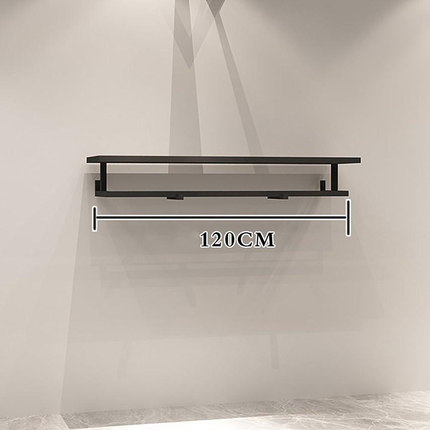 忌み嫌う食堂文ZHIRONG 衣服フックアイアンアート黒の壁ハンギングディスプレイスタンド ( サイズ さいず : 120CM )