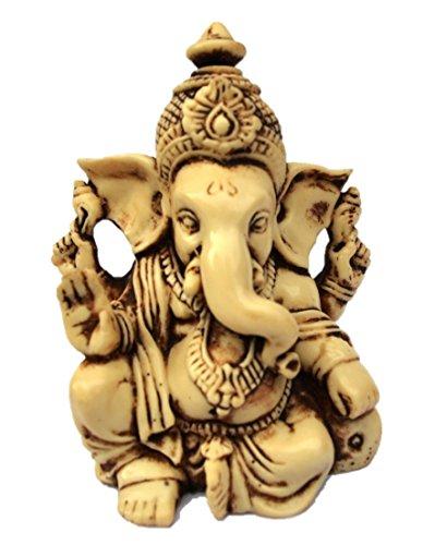 "JB Premium 3.5"" Lord Ganesh/Ganesha Statue Sculpted in Great Detail with Antique Finish – Ganesh Idol for Car/Home Decor/Mandir/Gift. Hindu God Idol."