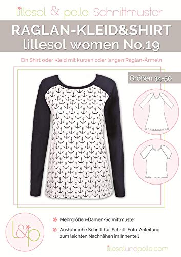 Lillesol & Pelle Schnittmuster women No19 Raglan-Shirt Papierschnittmuster