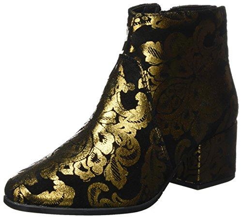 Tamaris Damen 25967 Stiefel, Schwarz (Black/Gold), 38 EU