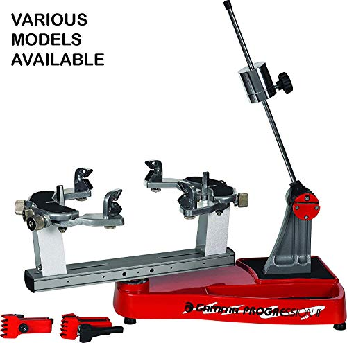 Gamma Progression 200 Stringing Machine: 360 Degree Rotation Tabletop Racquet Stringer Machines with Accessories / Racket String Tools - Strings Racquetball, Squash, Tennis or Badminton Rackets (MP200-11)