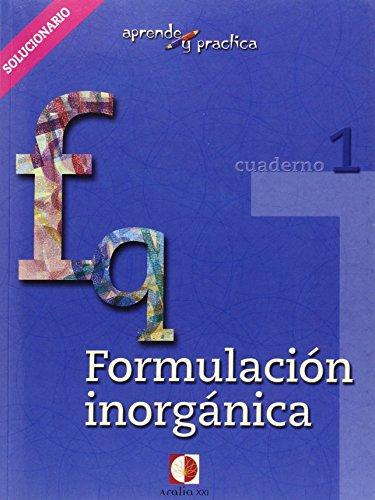 Aprende y practica, formulación química inorgánica. Libro del profesor