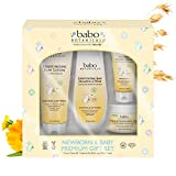 Babo Botanicals Newborn & Baby Premium Giftset with Pure Oatmilk Calendula, Hypoallergenic - 4-Pack