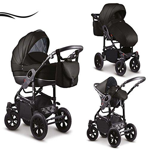 16 teiliges Qualitäts-Kinderwagenset-Reisesystem 3 in 1'COSMO' Standard in 41 Farben