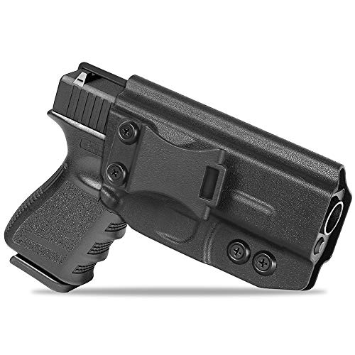 Glock 19 Holster, Concealment Express IWB Gun Holsters Custom Fit: Glock 19 19X | Glock 17 | Glock 26 27 22 23 | Glock 31 32 33 | Glock 45 (G1-5), Inside Waistband Concealed Carry, Adjustable Cant