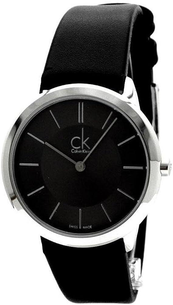 Calvin Klein Reloj Analogico para Hombre de Cuarzo con Correa en Cuero K3M221C4