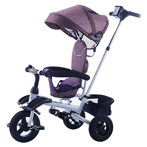 Axdwfd Kids fiets Kids driewieler gewicht 25 Kg verstelbare duwstang 1-6 jaar oude verjaardag cadeau kinderen kinderwagens peuter met Trike fiets