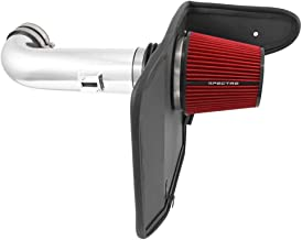 Spectre Performance Air Intake Kit with Washable Air Filter: 2010-2015 Chevy Camaro SS, 6.2L V8, Red Oiled Filter with Polished Aluminum Tube, SPE-9908