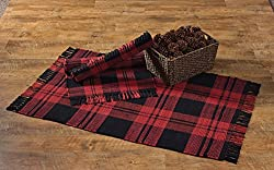 buffalo plaid christmas decor rug