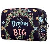 Toiletry Bag/Makeup Organizer/Cosmetic Bag/Portable Travel Kit Organizer/Household Storage Pack/Bathroom Storage Purple Quote Dream Big