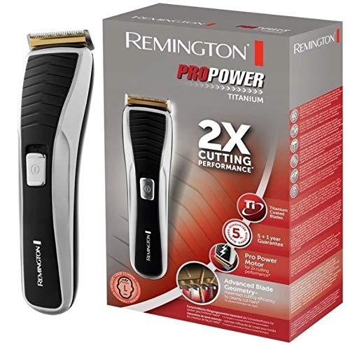 CORTADOR DE PELO REMINGTON HC7130, principal y recargable, cuchillas de titanio, corte de pelo de hombre, regalo, cortapelos inalámbrico, sorpresa, cortapelos negro