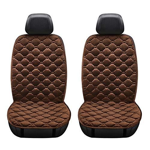KKmoon Beheizter Wintersitzbezug für Autositz, 12 V, Polsterung für Autositze mit intelligentem Temperaturregler, Braun
