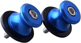 Shiwaki 2X Motorrad Schwingen Spulen Schieber Ständer Schrauben aus Aluminium, M6 Schrauben fit für Yamaha YZF R3 2015   Blau