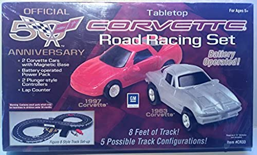 Official 50th Anniversary Tabletop Corvette Road Racing Set by Fedelstein & Associates