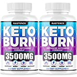 Keto Diet Pills - (2-Pack | 120 Capsules) - Best Keto Pills for Keto Burn & Energy - Perfect Keto Fast BHB Capsules with Apple Cider Vinegar for Weight Managment - Vegan Keto Fit Advanced Formula