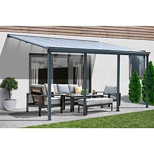 Home Deluxe - Terrassenüberdachung anthrazit - verschiedene Größen (618 x 303 cm) | Wintergartendach Verandaüberdachung Vordach