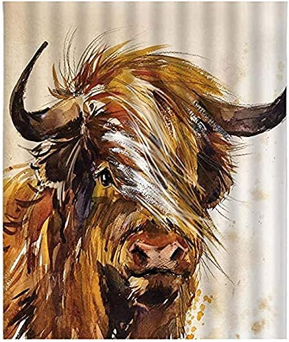 5D Fluffy Highland - Kit de pintura de diamante redondo con diseño de vaca de ganado en las tierras altas para decoración de pared del hogar, 30 x 40 cm