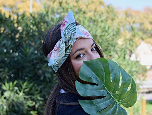 Tropical Stirnband Damen mit Draht Handmade