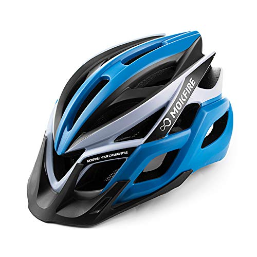 MOKFIRE Adult Bike Helmet CPSC Certified with Rechargeable USB Light,...
