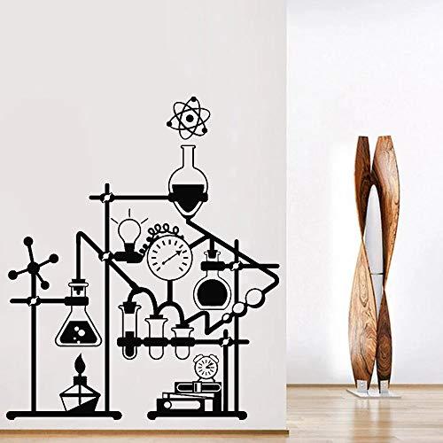 Pegatinas de pared de vinilo de ciencia, pegatinas de pared de laboratorio de química para sala de estar, decoración de aula de escuela de química