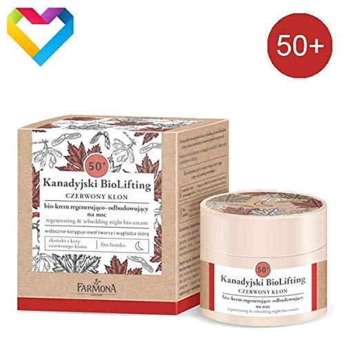 Farmona - Crema de noche antienvejecimiento de arce rojo 50+ canadiense, 50 ml