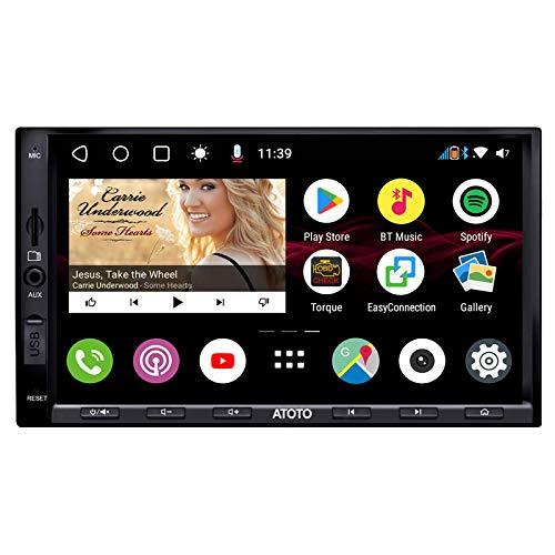 ATOTO S8 S8G2A71S standard, lettore video per auto Android con dashboard (senza DVD), doppio Bluetooth con aptX, Voice Assistant - DSP, display IPS, protezione della privacy, supporto 512GB SD