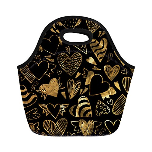 Nopersonality Tnsulated en forme de coeur Boîte à lunch Bag Filles Tote Cooler Sac réutilisable, Heart-shaped8, Taille M