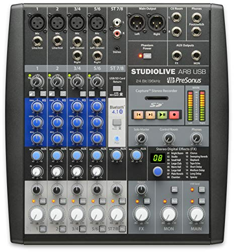 PreSonus StudioLive AR8 USB 8-Channel hybrid Performance and Recording Mixer (SLMAR8)