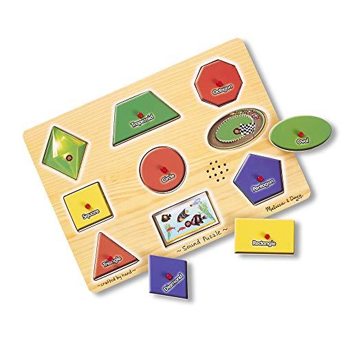 Melissa & Doug Wooden Sound Shape Puzzle