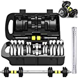 NO LOGO One Set of 2x15kg Adjustable Weight Dumbbell Cast Iron Total 30kg Fitness Dumbbell Set,Adjustable...