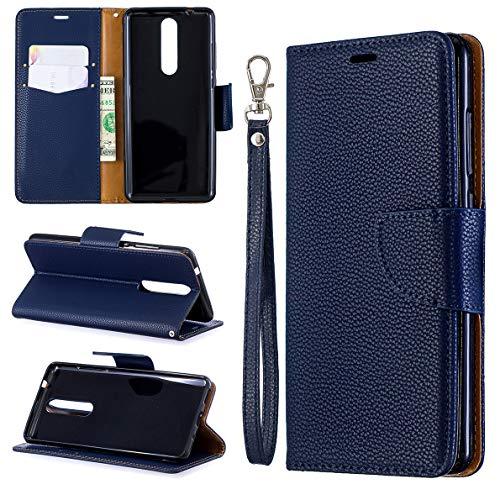 Custodia Nokia 5.1 Cover, SHUYIT Alta qualità Portafoglio Custodia in Pelle PU Case Cover Stand Carta Slot Chiusura Magnetica Caso Wallet Flip Cover per Nokia 5.1 2018