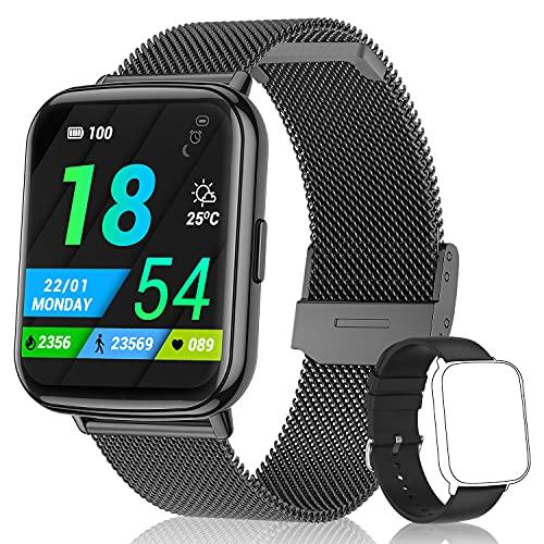 TagoBee Smartwatch Orologio Fitness Uomo Donna 1,69' Full Touch IP68 Impermeabile Android iOS Smart Watch Cardiofrequenzimetro da Polso Contapassi Monitoraggio del Sonno Calorie Digitale Sport Watch