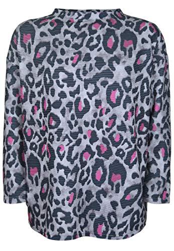 Doris Streich Damen Pullover mit Allover-Muster mit Animal-Muster