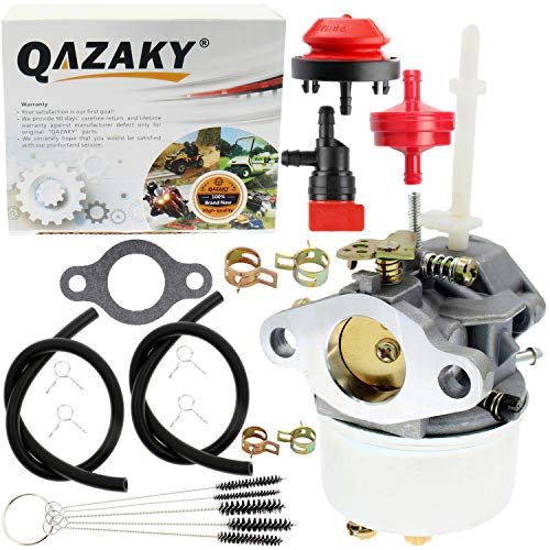 QAZAKY Carburetor Compatible for Tecumseh 631954 632371 632371A H70 HSK70 7HP Snowking Snow Thrower Blower Tiller Go Kart Toro 38040 38050 38062 38063 38065 38072 38073 38510 38513 Ariens 724 ST724