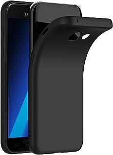 COPHONE Funda Negro Samsung Galaxy A5 2017 A520, Negro Silicona Fundas para Samsung A5 2017 Flexible Ultra Delgado Carcasa Negro Silicona Funda Case